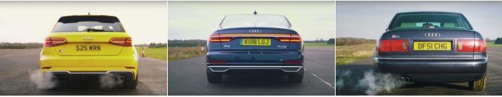 Audi S8, S3, A8