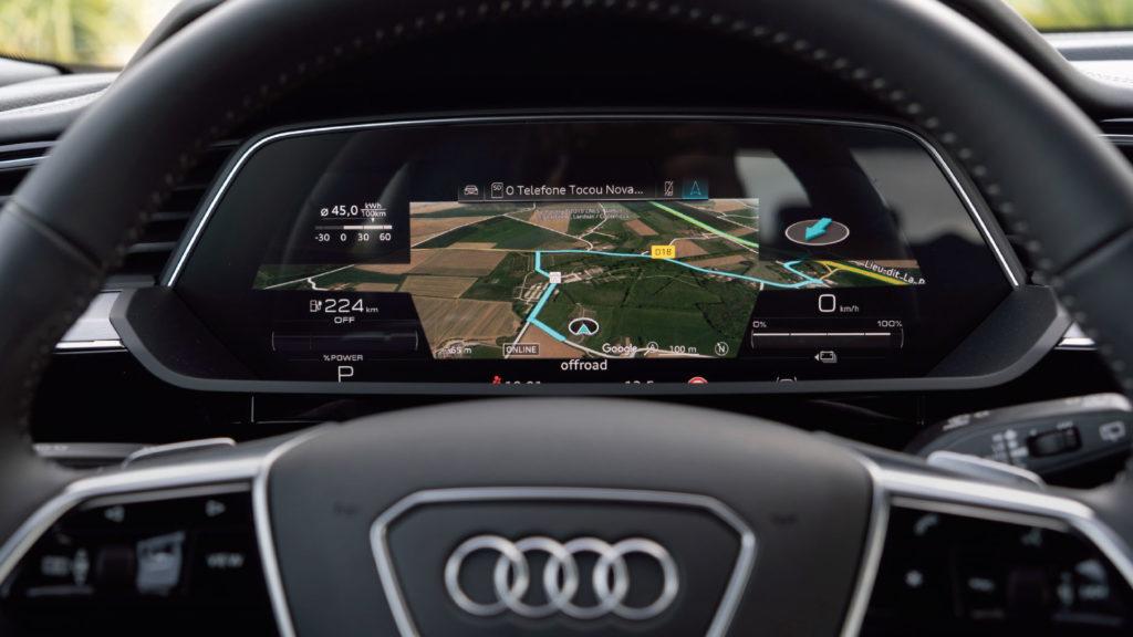 Tableau de bord avec GPS