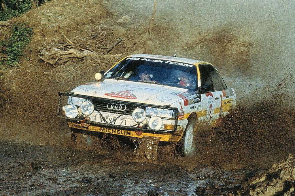 Audi 200 quattro dans la boue en safari